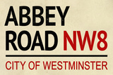 Abbey Road NW8 Street Sign Plastic Sign Wall Sign