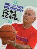 Active Older Adult Poster - Basketball Laminated Educational Poster Prints