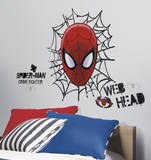 Ultimate Spider-Man Web Head Peel & Stick Wall Decals Wandtattoo