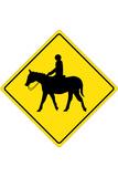 Horse Crossing Plastic Sign Znaki plastikowe