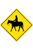 Horse Crossing Plastic Sign - Plastik Tabelalar