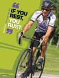 Active Older Adult Poster - Cycling Man Laminated Educational Poster Prints