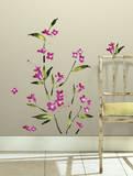 Fuchsia Flower Arrangement Peel and Stick Wall Decals Wall Decal