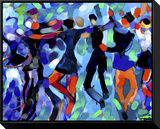 Joyful Dance Brushstroked Canvas by Diana Ong