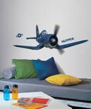 Planes - Skipper Riley Peel and Stick Giant Wall Decals Kalkomania ścienna
