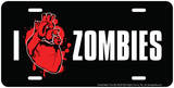 I Heart Zombies Embossed Tin Sign Tin Sign