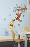 Winnie the Pooh Swinging for Honey Peel and Stick Giant Wall Decals Kalkomania ścienna