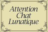 Attention Chat Lunatique French Crazy Cat Plastic Sign Plastic Sign