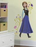 Sticker mural grand format La Reine des neiges Anna Peel et Stick Autocollant mural