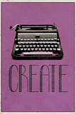 Create Retro Typewriter Player Plastic Sign Wall Sign
