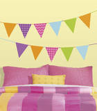 Patterned Pennants Peel and Stick Wall Decals Wall Decal