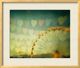 Fairground Hearts Framed Giclee Print by Irene Suchocki