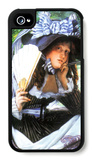 A Young Woman with a Fan iPhone 4/4S Case by James Tissot