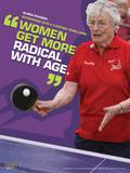 Active Older Adult Poster - Table Tennis Laminated Educational Poster Poster