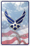 Air Force - Flag Embossed Tin Sign Tin Sign