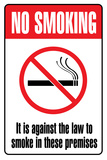 No Smoking Plastic Sign Plastic Sign