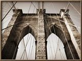 The Brooklyn Bridge, a National Landmark Framed Photographic Print by Keith Barraclough