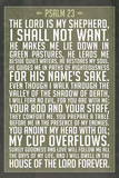 Psalm 23 Prayer Plastic Sign Plastic Sign