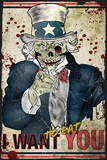 Zombie Uncle Sam Prints