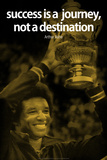 Arthur Ashe Success Quote iNspire Plastic Sign Wall Sign