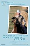Blue Zones® Centenarian Horse Back Riding Laminated Educational Poster Posters