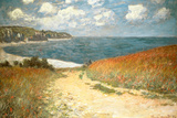 Path Through the Corn at Pourville Claude Monet Plastic Sign Wall Sign