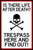 No Trespassing Do Not Enter Plastic Sign Wall Sign