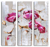 Pink & white poppy triptych Posters