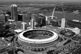 Busch Stadium Aerial St Louis Sports Plastic Sign Wall Sign