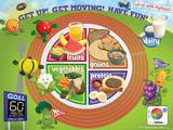 Active Kids MyPlate Laminated Educational Poster Print