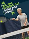 Active Older Adult Poster - Tennis Laminated Educational Poster Posters