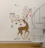 Ornamental Reindeer Peel and Stick Giant Wall Decals Wall Decal