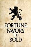 Fortune Favors the Bold Motivational Latin Proverb Plastic Sign Plastikschilder