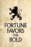 Fortune Favors the Bold Motivational Latin Proverb Plastic Sign Cartel de plástico