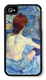 Rousse the Toilet iPhone 4/4S Case por Henri de Toulouse-Lautrec