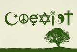 Coexist Natural Motivational Poster Print