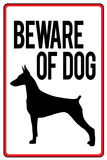 Beware of Dog Sign Plastic Sign Plastic Sign