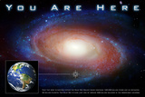 Classic You Are Here Galaxy Space Science Plastic Sign Plastic Sign