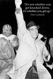 Vince Lombardi Get Back Up Quote Sports Plastic Sign Wall Sign