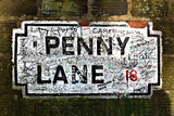 Penny Lane Street Sign Print Plastic Sign Plastic Sign