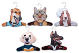 Grayhound, Yellow Lab, Chef Bassett House, Salesman Doberman, Pilot Cat Animal Hanger 5 Pack Novelty
