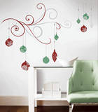 Holiday Scroll Peel and Stick Giant Wall Decals w/Glitter & Metallic Inks Wall Decal