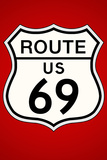 Route 69 Highway Plastic Sign Wall Sign