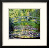 Seerosenteich mit japanischer Brücke, 1899 Gerahmter Giclée-Druck von Claude Monet
