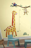 Giraffe Peel and Stick Metric Growth Chart Wall Decals Wall Decal