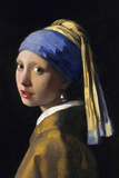 Johannes Vermeer Girl with a Pearl Earring Plastic Sign Wall Sign by Jan Vermeer