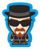 Breaking Bad - Heisenberg Suit Vinyl Sticker Stickers