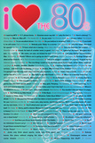 I Love the 80s Greatest Quotes Movie Plastic Sign Wall Sign