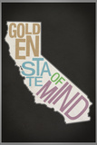 Golden State of Mind Plastic Sign Wall Sign