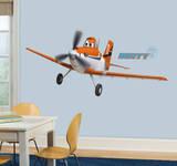 Lentokoneet - pölyinen Crophopper kuori ja Stick jättiläinen seinätarrat Seinätarra